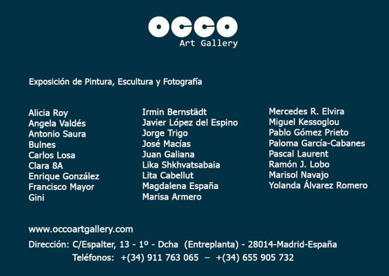 Exposition OCCO Art Galery Madrid Pascal Laurent peintre