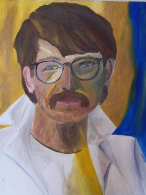 Laurent-Pascal-artiste-peintre-1989 Autoportrait 1989