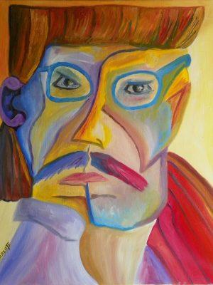 Laurent-Pascal-artiste-peintre-1991 V Autoportrait 91