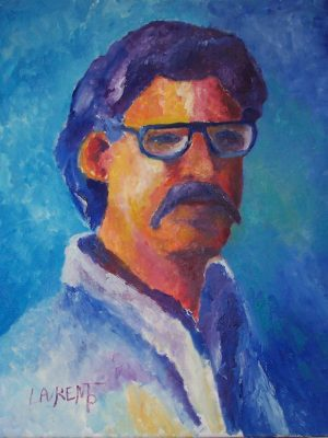 Laurent-Pascal-artiste-peintre-1994 Autoportrait 94