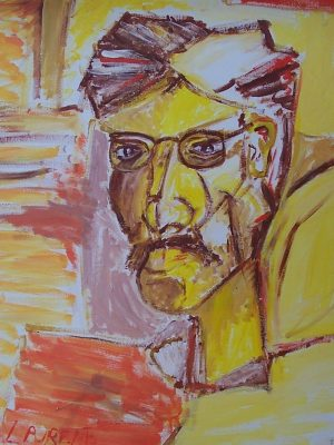 Laurent-Pascal-artiste-peintre-1995 autoportrait 1995