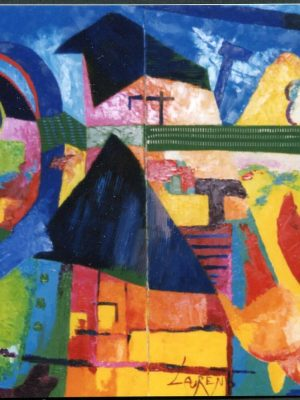 Laurent-Pascal-artiste-peintre-1998 La vache médiatique