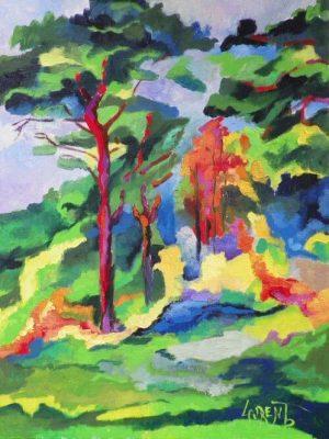Laurent-Pascal-artiste-peintre-2012 V Pins de Montreuil I