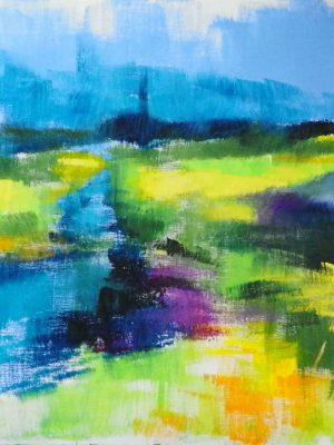 Laurent-Pascal-artiste-peintre-2013 Batz vu des marais acry toile