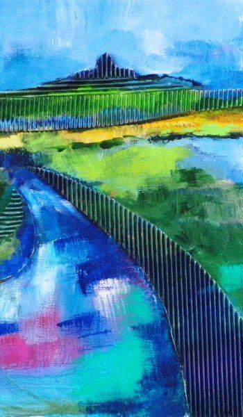 Laurent-Pascal-artiste-peintre-2013 Batz vu des marais collages