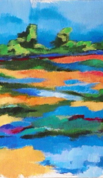 Laurent-Pascal-artiste-peintre-2014 La plage de Lasné