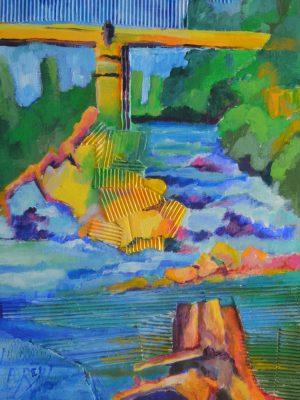 Laurent-Pascal-artiste-peintre-2015 pont sur l'Adour St Sever