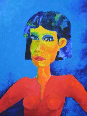 Laurent-Pascal-artiste-peintre-2016 portrait de femme huile