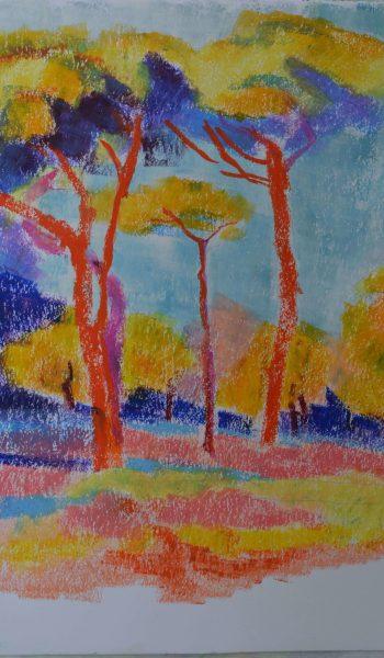 Laurent-Pascal-artiste-peintre-2017-Charente maritime Les pins2