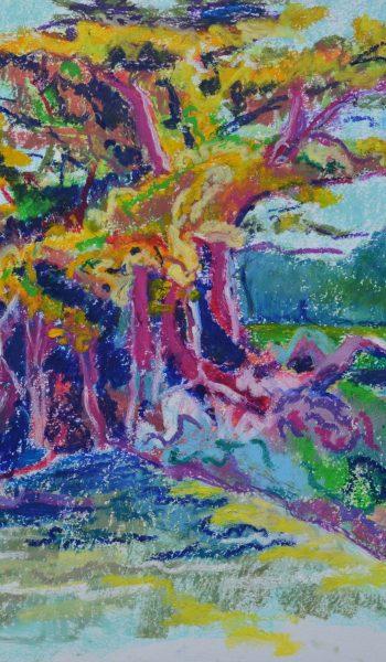 Laurent-Pascal-artiste-peintre-2018 Ré Le vieux cyprès