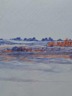 Laurent-Pascal-artiste-peintre-2018 Ré Les Marais crayon